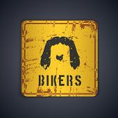 picture of rogue  - Bikers grunge Beard on road sign - JPG