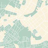 image of cartographer  - Editable vector street map of town - JPG