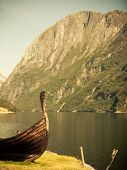stock photo of viking ship  - Tourism and travel - JPG