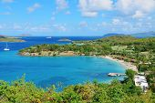 stock photo of virginity  - Colorful beach in St John - JPG