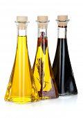 picture of vinegar  - Olive oil and vinegar bottles - JPG