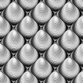stock photo of distort  - Design seamless monochrome cone illusion background - JPG