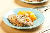 pic of rutabaga  - Thin pork chops with apple and fennel accompanied by butternut squash and rutabaga - JPG