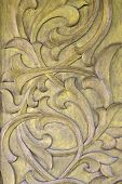 stock photo of wood craft  - Wood Thai in pattern Handmade wood carvings - JPG