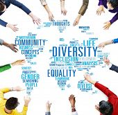 image of racial diversity  - Diversity Ethnicity World Global Community Concept - JPG