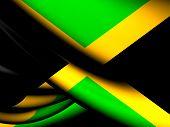 stock photo of jamaican flag  - 3D Flag of the Jamaica - JPG