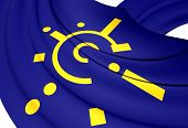 stock photo of free-trade  - 3D Flag of Central European Free Trade Agreement - JPG