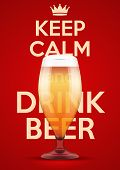 picture of calming  - Poster of Keep Calm And Drink Beer - JPG