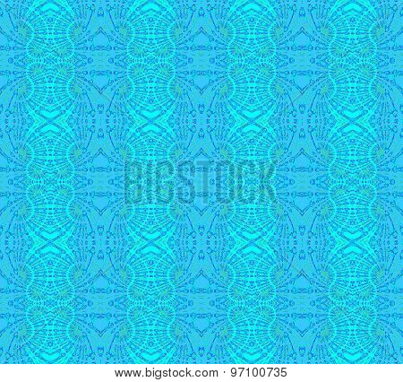 Seamless pattern blue turquoise