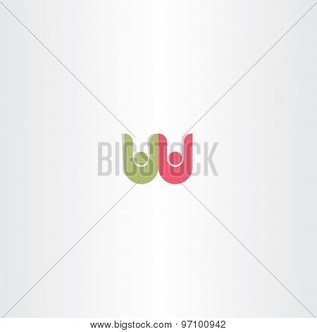 Letter W People Logo Symbol