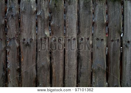 Old Black Painted Wood Wall