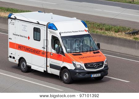 German Red Cross Rescue Service Car