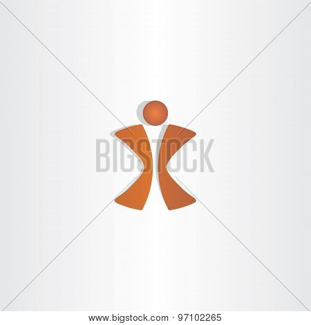 Man Letter X Logo Design