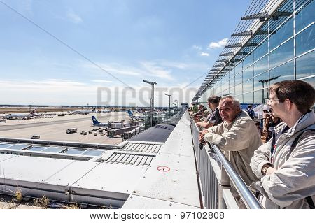 Visitors Terrace At The Frankfurt Airport