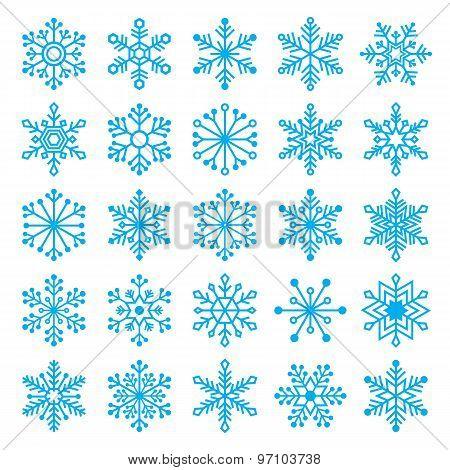 Chirstmas Snowflakes Set
