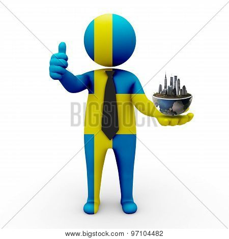 3d businessman people  Sweden - Environment and construction Sweden