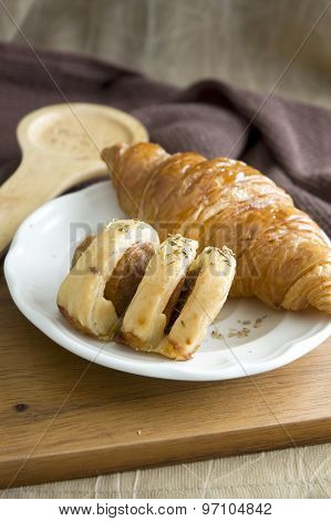 Sausage Roll And Croissant