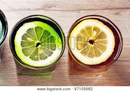 Two Cocktails With Lemon