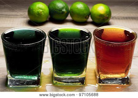 Three Different Cocktails