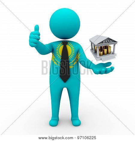 3d businessman people Kazakhstan - Banking and Finance