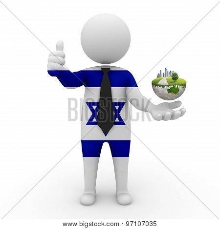 3d businessman people  Israel - Environment and construction Israel