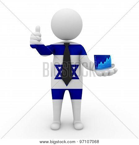 3d businessman people Israel - Stock Exchange of Israel