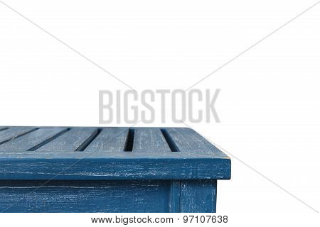 Empty Top Of Wooden Table Isolated On White Background