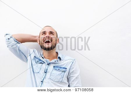 Happy Guy Looking Up