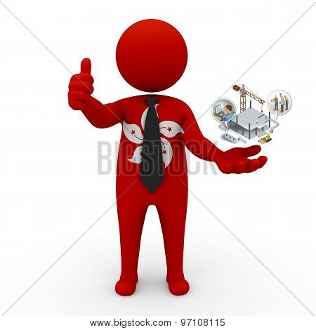 3d businessman people Hong Kong - construction and innovative technologies