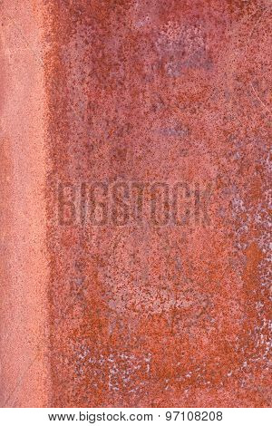 Close Up Of Scratched Rusty Surface - Textured Background