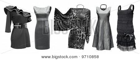 Black Grey Dresses Set