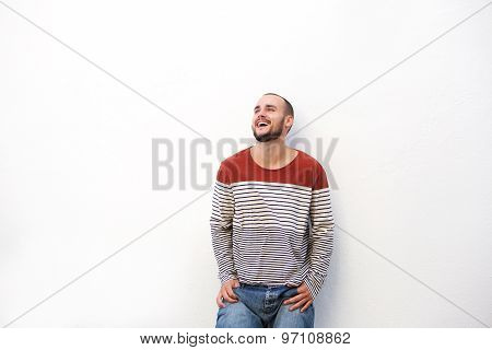 Cool Young Man Laughing