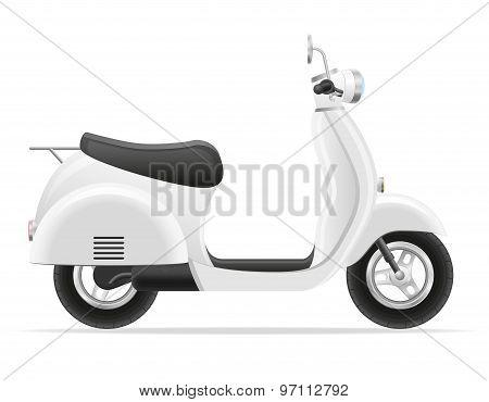 Retro Scooter Vector Illustration