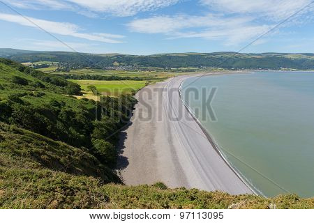 Porlock beach Somerset England UK near Exmoor and west of Minehead on the south west coast path