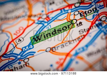 Windsor On A Road Map