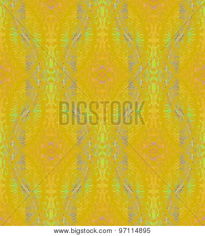 Seamless pattern yellow ocher green