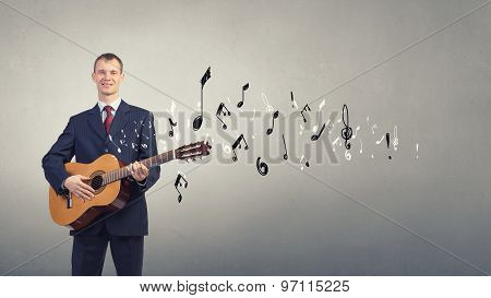 Man play guitar