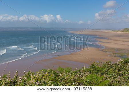 Broughton Bay the Gower peninsula South Wales UK near Rhossili beach in the Bristol Channel