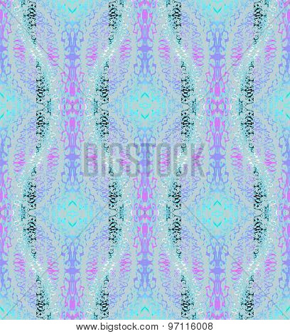 Seamless pattern turquoise purple