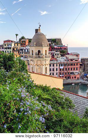 Vernazza At Sunset (cinque Terre, Italian Riviera, Liguria)
