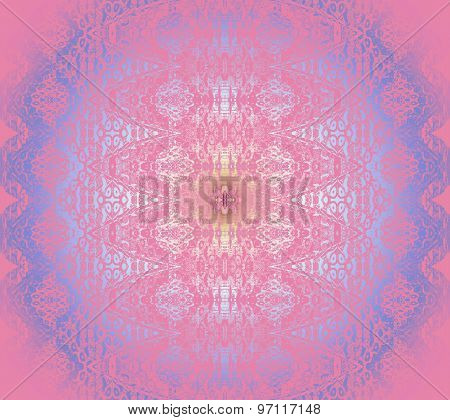 Seamless pattern pink blue shining