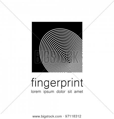 Fingerprint - the template for a logo. Symbol fingerprint - a sign of identification, preservation and protection.