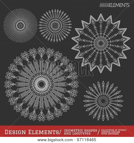Set Of Geometric Hipster Shapes And Logotypes64954Black