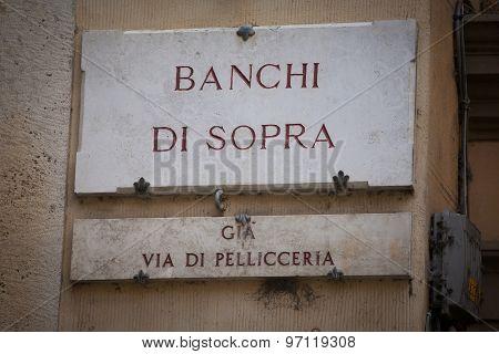 Banchi Di Sopra In Siena
