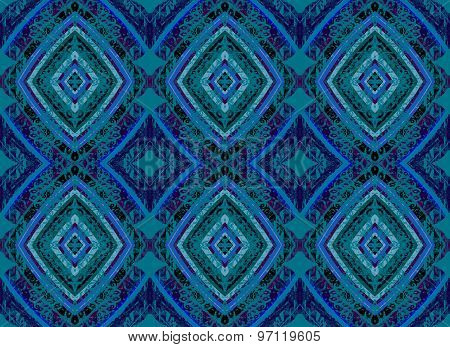Seamless pattern blue green