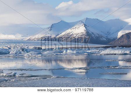 Jokulsarlon lake during late winter