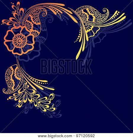 card in oriental style