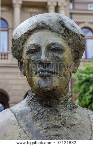 Statue Of Aletta Jacobs In Front Of The Groningen University