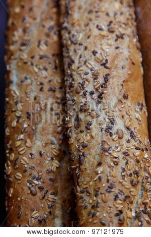 French Cereal Breads And Baguette