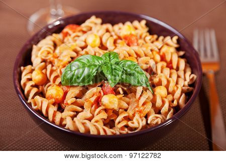 Fusilli With Chick-peas